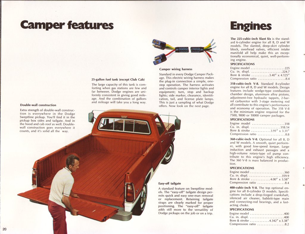 Hall Gtc Grand Touring Coach Classic Dodge Truck Wiring Harness 1973 Campers Factory Brochure