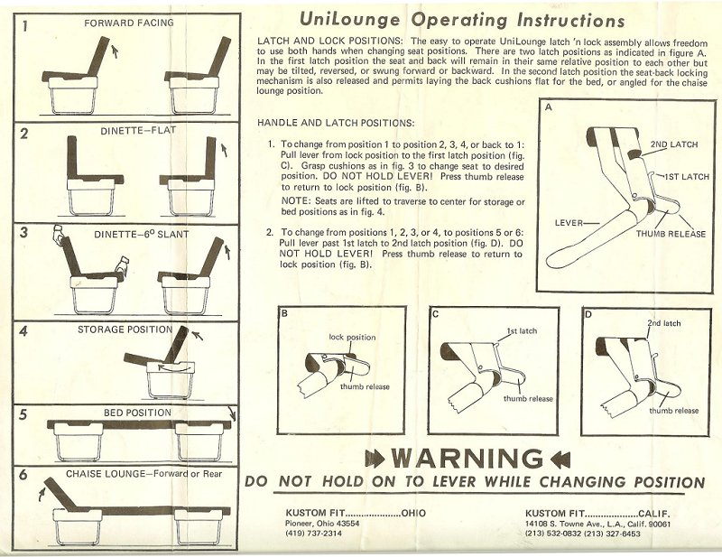 Unilounge Instructions